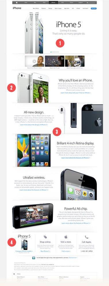 Page d'accueil du site de Apple
