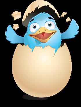 Illustration qui revisite le logo Twitter
