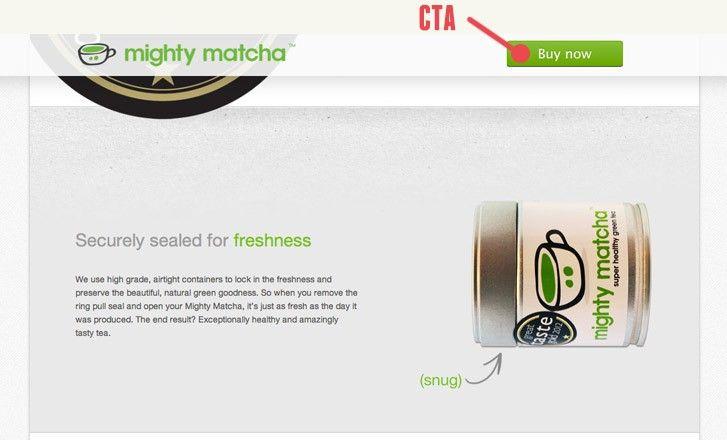 Site web de Mighty Matcha