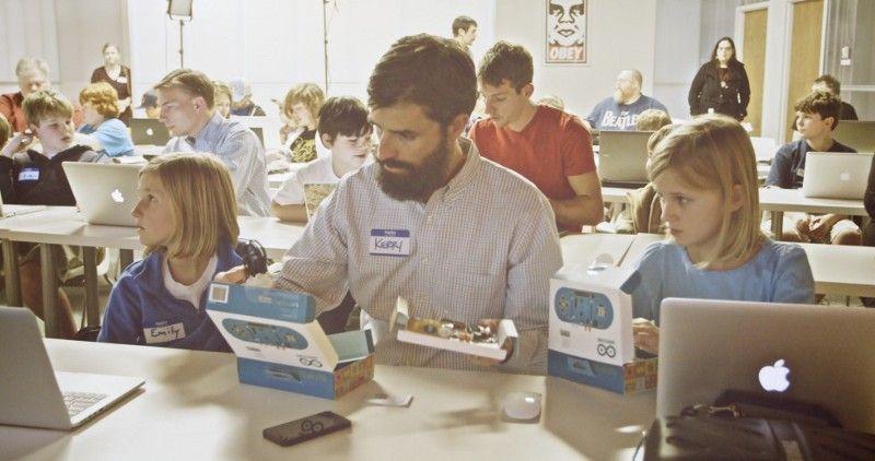Photo d'une classe d'informatique