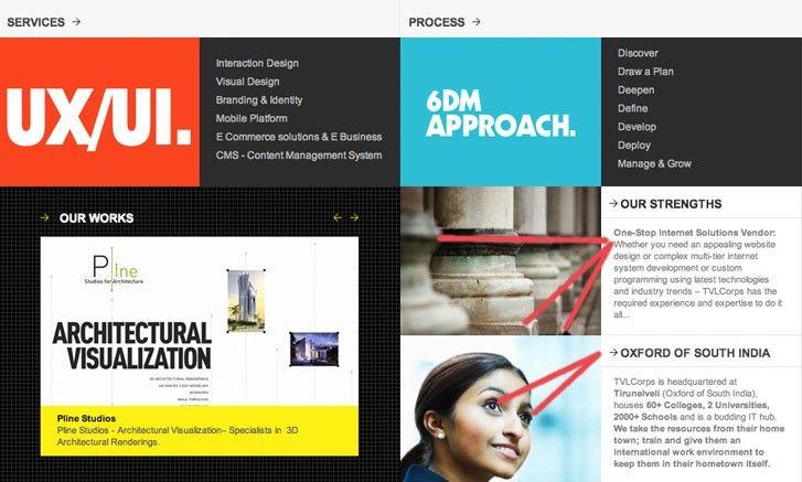 Interface web montrant l'imacte du choix des images par rapport au contenu