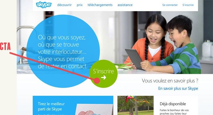 Site web de Skype