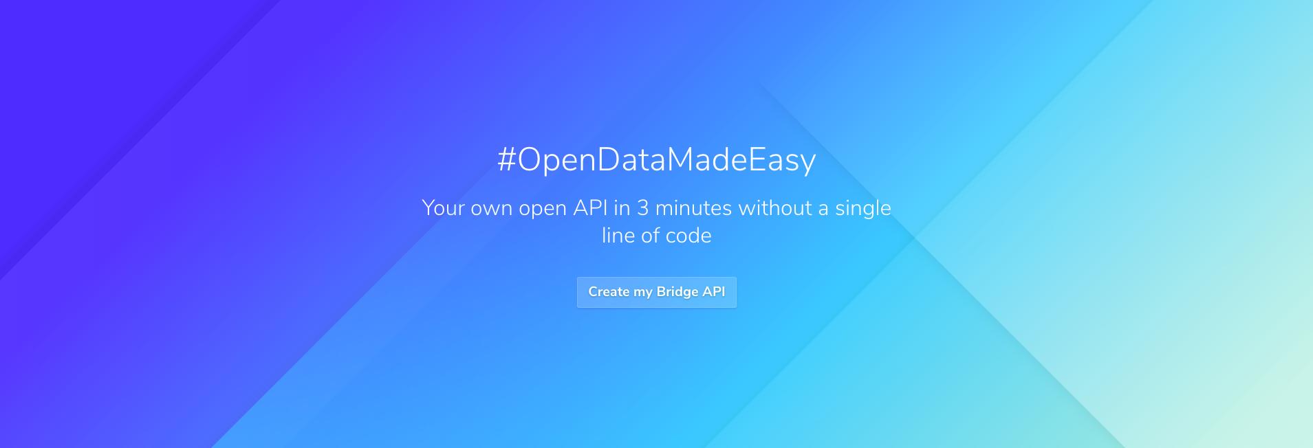 Homepage of Bridge app