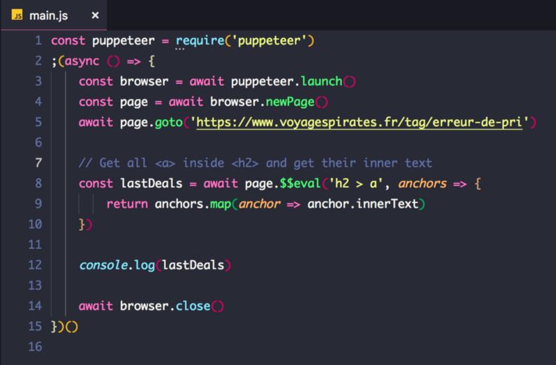Fichier javascript