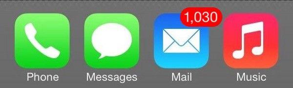 Icones d'applications avec une notification