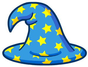 Illustration of a wizard hat