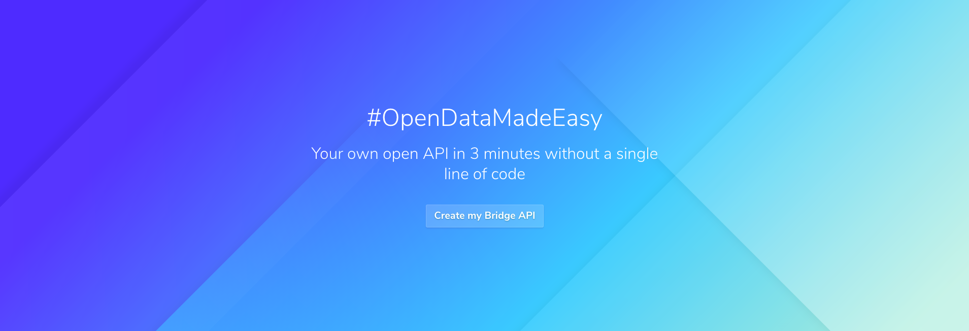 Create an open REST API in 2 minutes with Bridge [no code]
